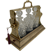 Exceptional Gilded Antique English Tantalus by Betjemman & Sons c.1900