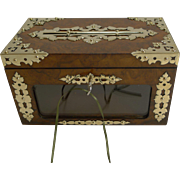 Quality Antique English Letter / Correspondence Box by Briggs, Piccadilly, London c.1860