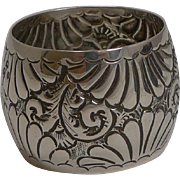 Highly Decorative Antique English Sterling Silver Cased Napkin Ring