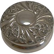 Victorian English Sterling Silver Pill Box - 1895