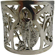 Unusual Vintage Sterling Silver Figural Napkin Ring - 1920