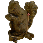 Antique English Figural Vesta / Go-To-Bed - Squirrel c.1890