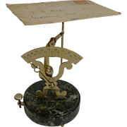 Charming French Letter or Postal Scale; Signed Narcisse Briais c.1890