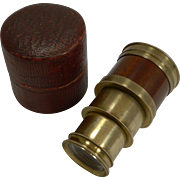 A Fine Quality English Georgian Monocular In Case c.1800