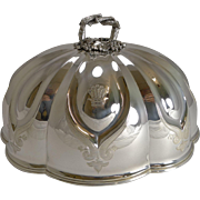 Stunning Antique Shaped Silver Plated Meat or Food Dome - 1841