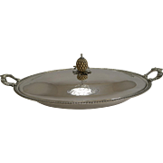 Elegant Victorian Silver Plated Warming / Chafing Entree Dish c.1860