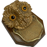 Antique English Novelty Letter Clip c.1890 - Owl