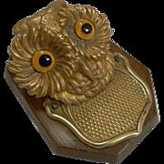 Antique English Novelty Letter Clip c.1890 - Owl