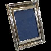 Smart Vintage English Sterling Silver Photograph Frame - 1926