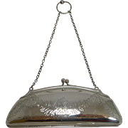 Pretty Antique English Sterling Silver Purse - 1917