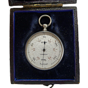 Rare English Immisch patent silver skin thermometer in it's case c.1890