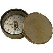 Antique English Brass Cased Compass c.1890