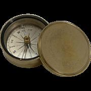 Antique English Brass Cased Compass c.1890