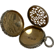English George IV Sterling Silver Vinaigrette - 1829