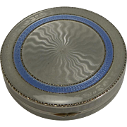 Exceptional Sterling Silver and Guilloche Enamel Pill Box - 1928