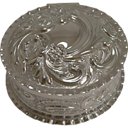 English Victorian Sterling Silver Jewelry / Trinket Box - 1896