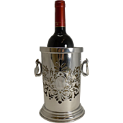 Antique English Silver Plate Wine Bottle Holder c.1910