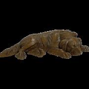 Beautifully Carved Large Figural Black Forest Dog Figure c.1890