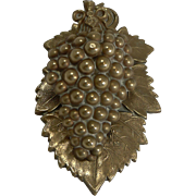 Antique English Grapevine Letter / Desk Clip - Registered 1845