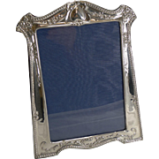 Magnificent Antique English Sterling Silver Art Nouveau Photograph Frame - 1912