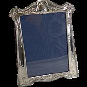 Magnificent Antique English Sterling Silver Art Nouveau Photograph Frame - 1912