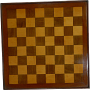 Antique English Chess Board c.1900
