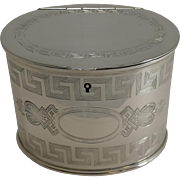 Antique English Silver Plate Double Compartment Tea Caddy c.1880