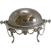 Stunning Revolving Butter Dish by Martin Hall and Co. c.1880.