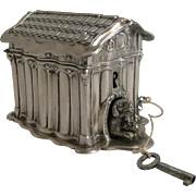 Adorable Small Money Box - Dog In Kennel c.1890