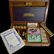 Antique English Games Box / Compendium c.1905