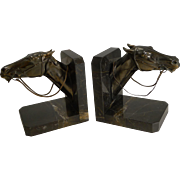 Magnificent Pair Art Deco Equestrian Bookends c. 1930