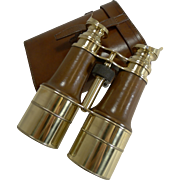 Superb Pair WW1 Binoculars and Case - British Officer's Issue - 1918 - Signed