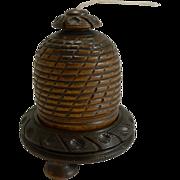 Charming Antique English Beehive String Box / Dispenser c.1880