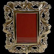 Stunning Antique English Brass Photograph Frame c.1890