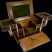 Quality Antique French Burl Thuya Jewelry Box c.1910