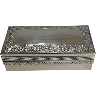 Antique English Sterling Silver Jewelry Box by William Hutton - 1895