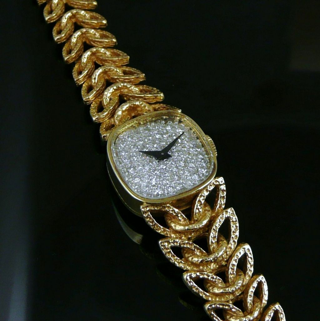Vintage 14k gold diamond longines wittnauer watch ladies roll over large image to magnify click large image to zoom sciox Choice Image