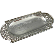 Antique Gorham Sterling Silver Repousse Pin Tray