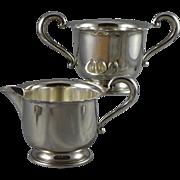 Vintage Sterling Silver Sugar And Creamer Set by Mueck Carey