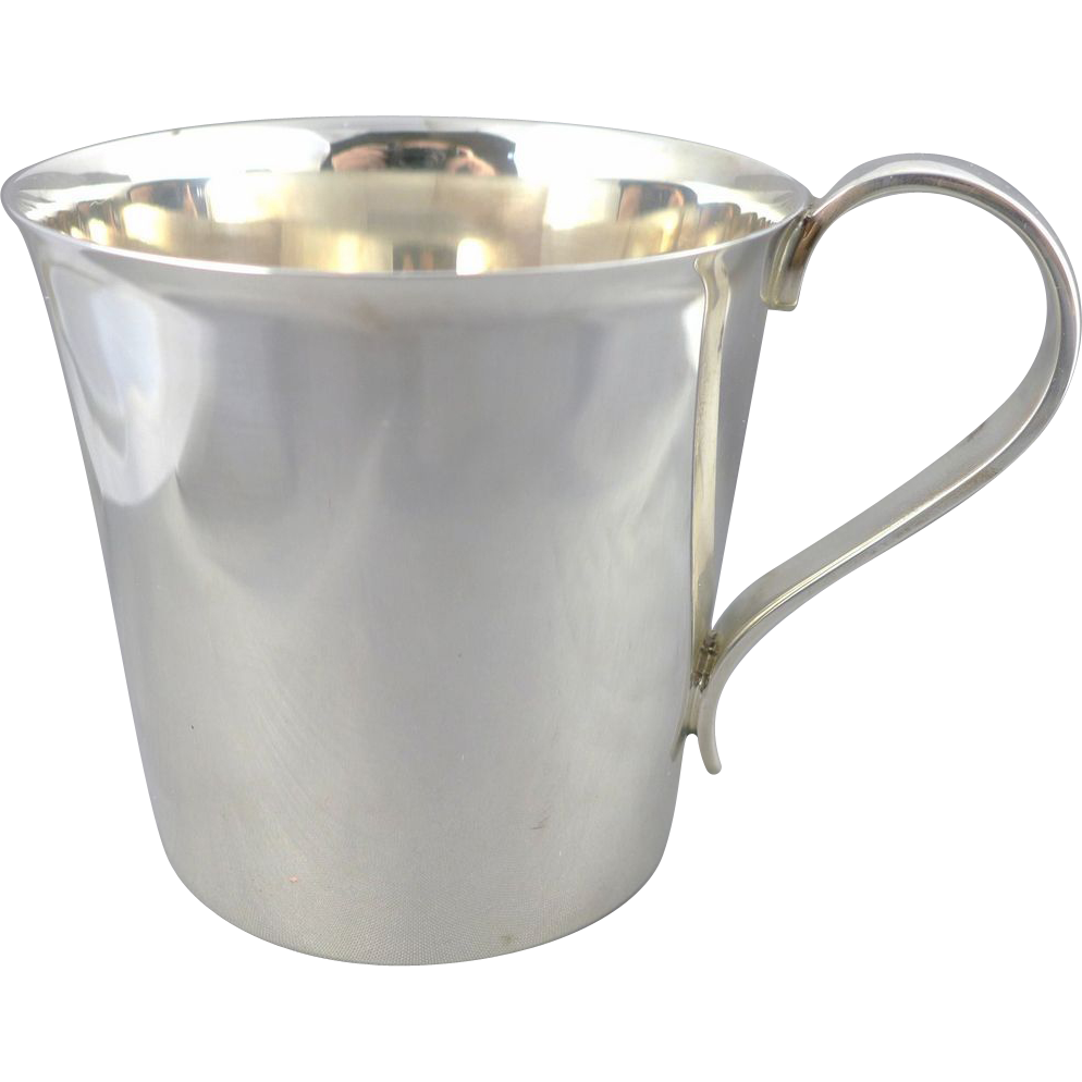 Heavy, Vintage Sterling Silver Baby Cup - High Quality
