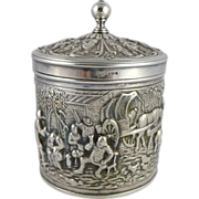 Vintage Dutch Silverplate Tea Caddy Herbert Hooijkaas, HH 90, Douwe and Egberts