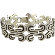 Vintage Taxco Sterling Silver Bracelet by Jose Luis Flores