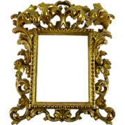 Antique Italian Gilt Carved Wood Rococo Frame