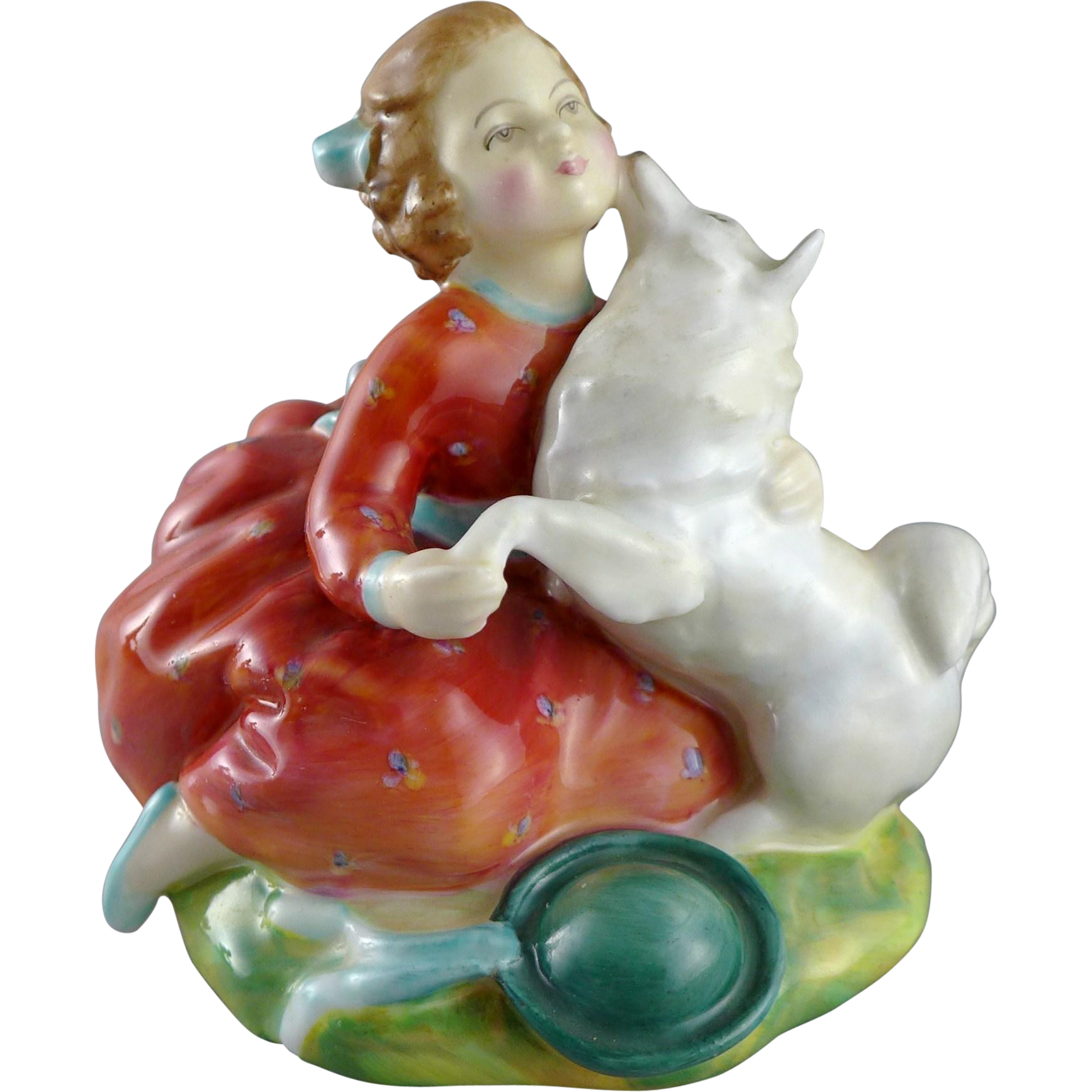 Vintage Royal Doulton Figurine - Home Again - Girl with Dog