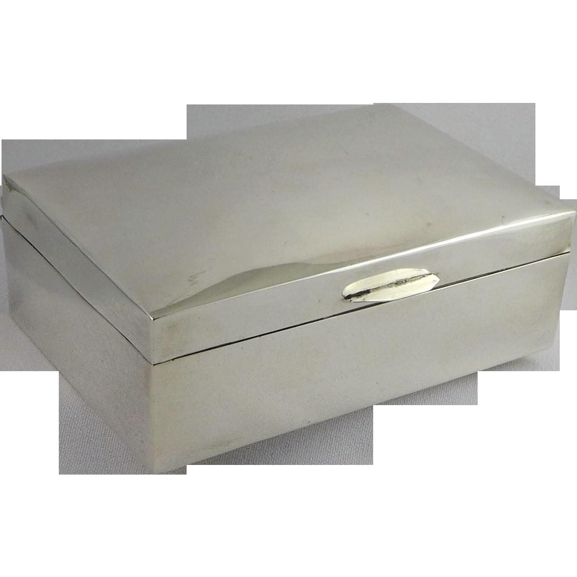 Sanborns of Mexico Sterling Silver Cigarette Box - Heavy