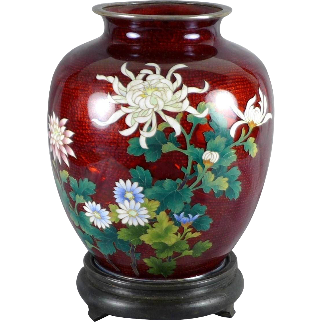 Japanese sato cloisonne vase with silver trim sold ruby lane reviewsmspy