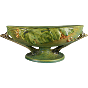 Vintage Roseville Bushberry Fruit Bowl in Green - 1 10 FB