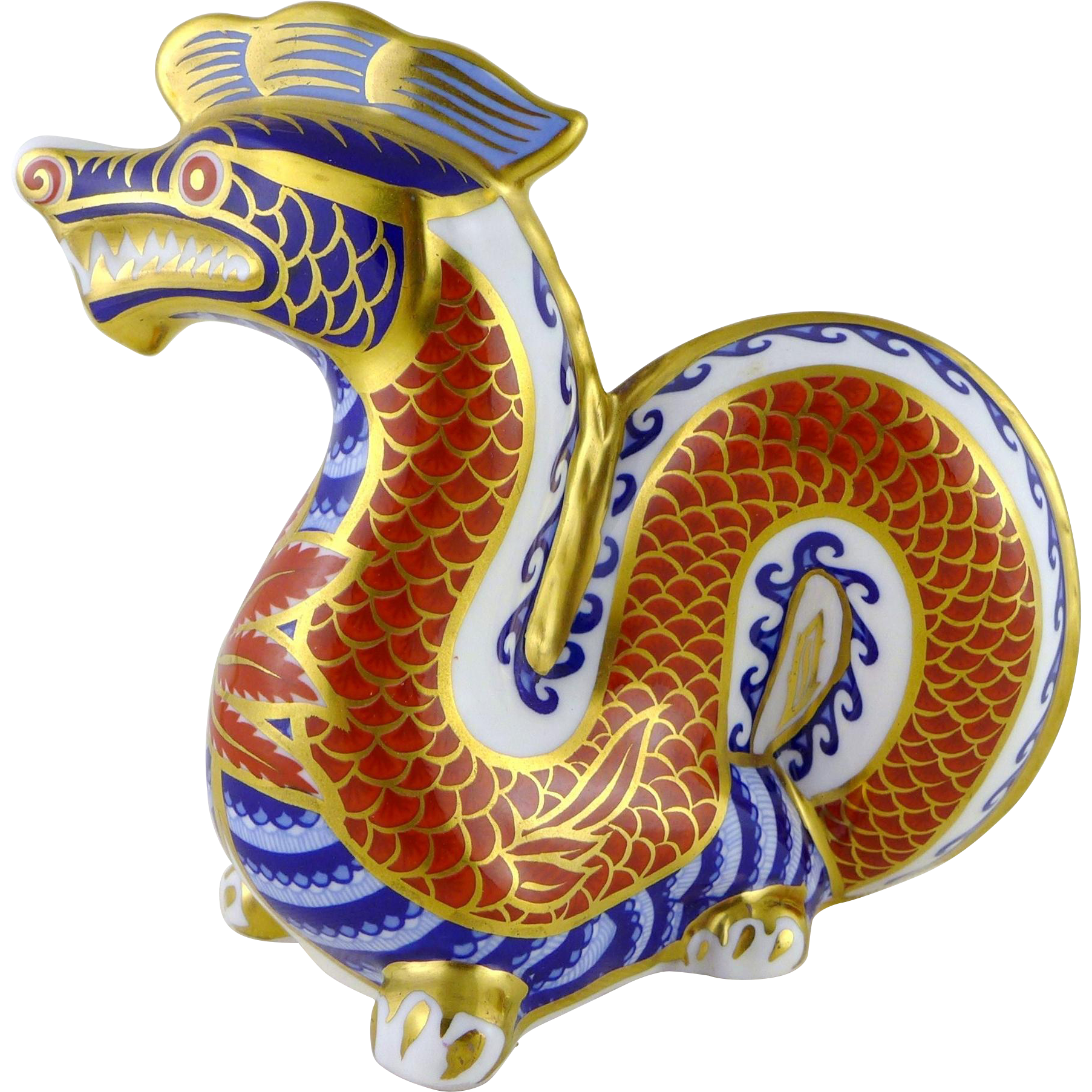 Vintage Royal Crown Derby Dragon Figurine / Paperweight