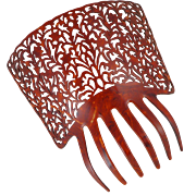 Large Vintage Faux Tortoiseshell Mantilla Style Hair Comb