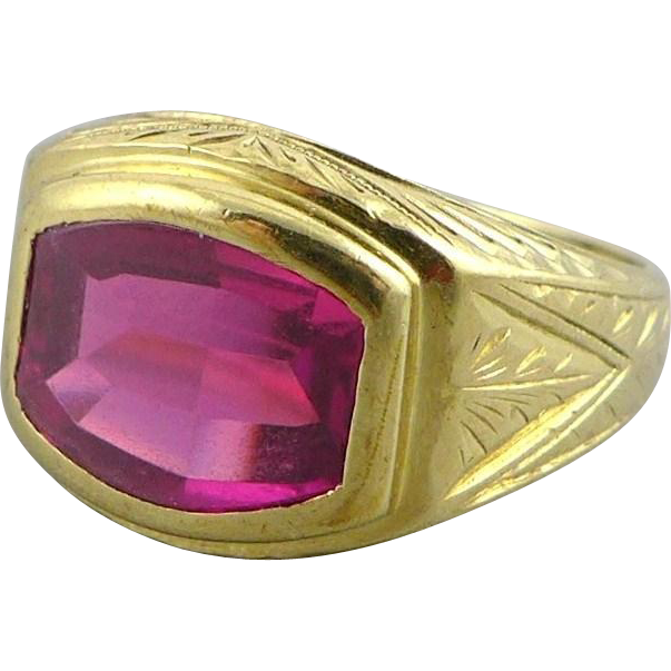 antique 10k gold ruby ring from purrfecttreasures on ruby